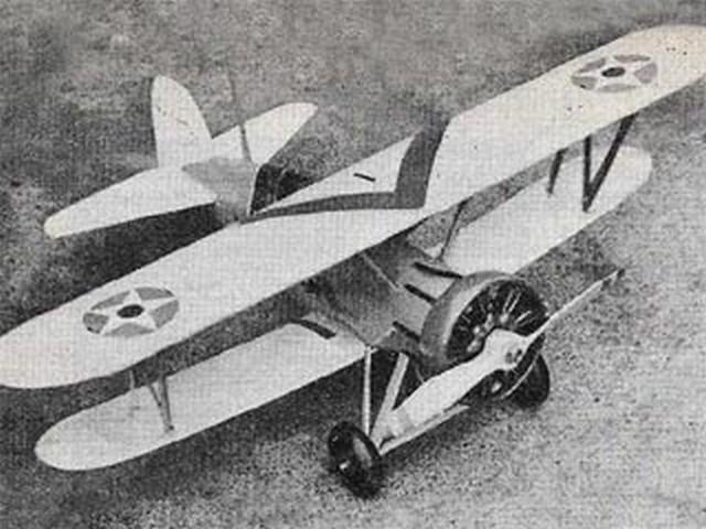 Boeing F4B-4 (oz6965) by WI Barrett from Model Aircraft 1958