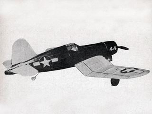 Vought F4U-1 Corsair (oz7048) by Dick Ealy from Model Airplane News 1950