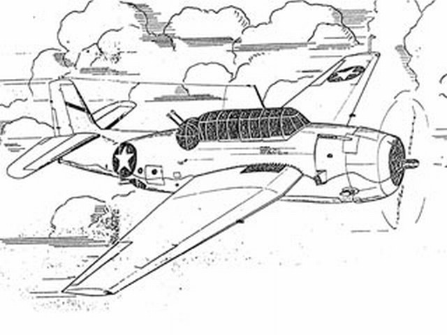 Grumman Avenger TBF-1 (oz7075) from Ace Whitman 1942