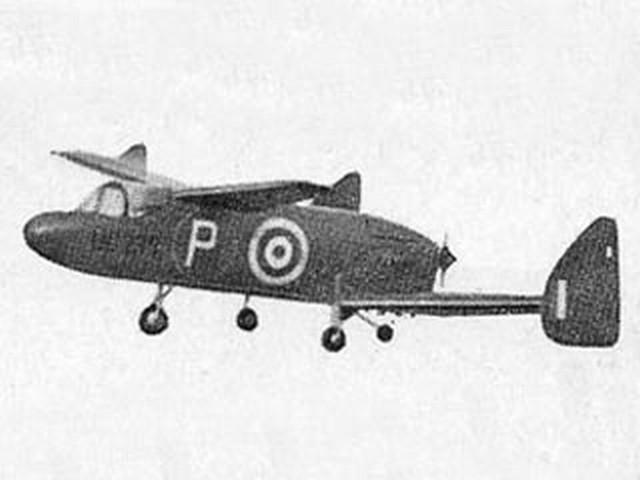 Miles M.35 (oz7080) by Doug McHard from Aeromodeller 1955