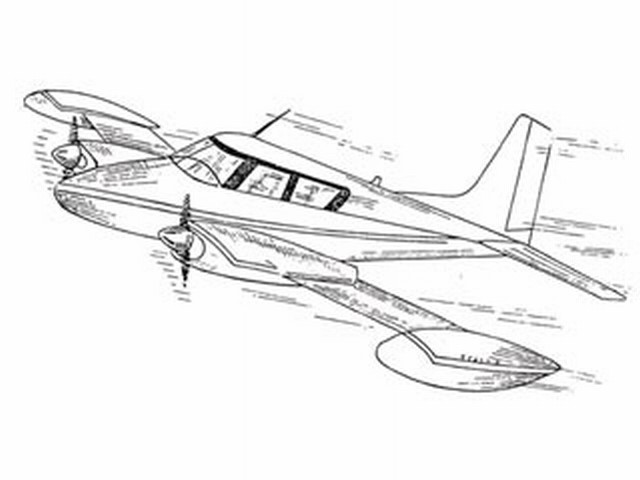 Cessna 310 - completed model photo