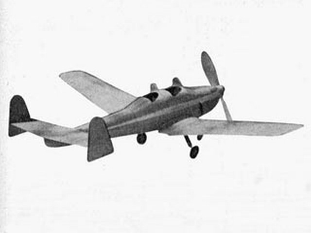 General Aircraft Owlet (oz7266) by WR Jones from Aeromodeller 1941