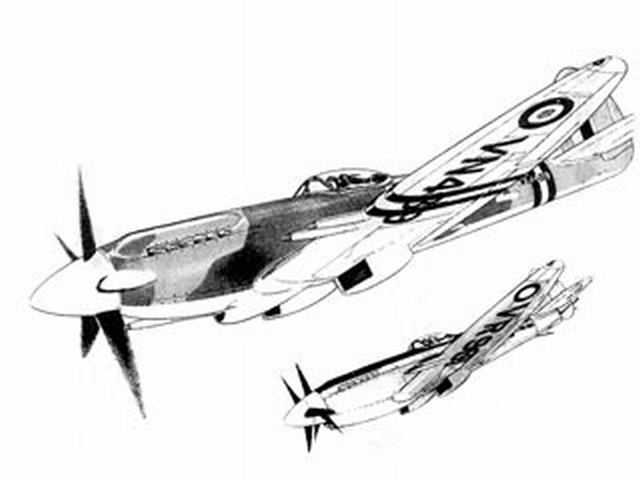 Spitfire 24 / Seafire 47 (oz7322) by Howard Funnell from Micro Mold