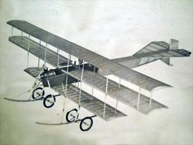 Avro Mk.IV Triplane 1910 (oz7349) by Chuck West from Peterson Products 1975