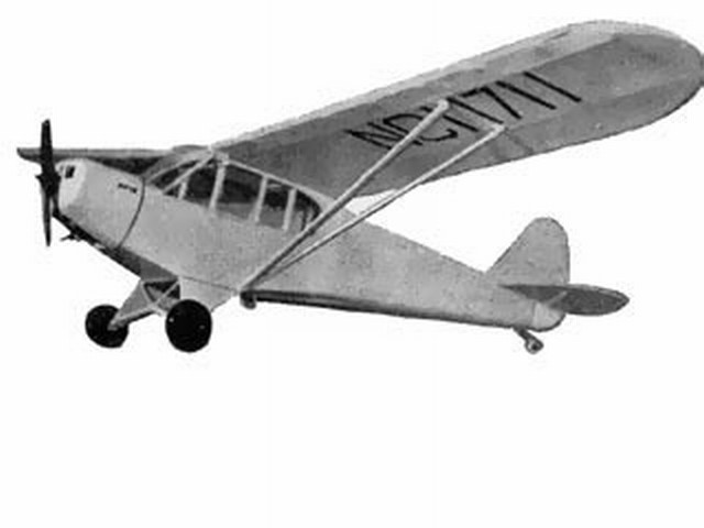 Piper PA18 Super Cub (oz737) by PMH Lewis from Model Aircraft 1958