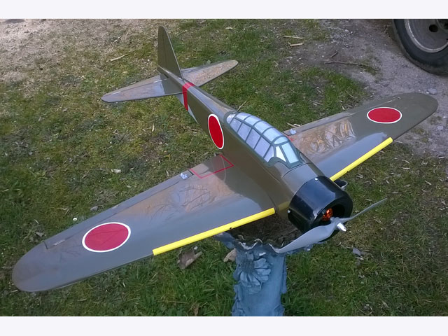 Mitsubishi A6M2 Zero (oz7419) by Tom Stryker from Progressive Miniature Aviation