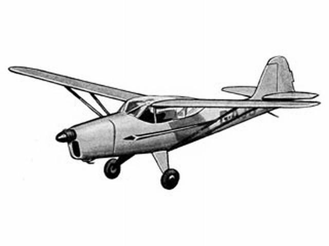 Auster V (oz7427) by HG Moore from Model Aircraft 1952
