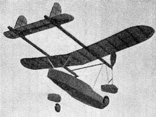 Twin Amphibian (oz7450) by Gordon Light from Model Airplane News 1935