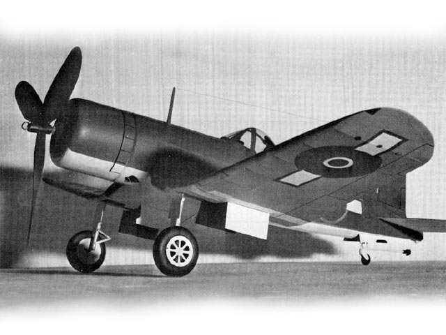 Vought F4U Corsair (oz747) by Frank Scott from Flying Scale Models of WWII 1974