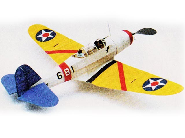 Vought SB2U-1 Vindicator (oz749) by Herbert K Weiss from Flying Aces 1936