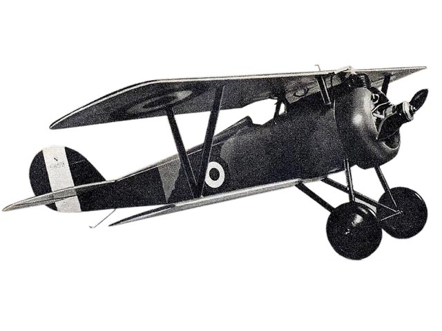 Nieuport Scout (oz7505) by S Cal Smith from Mechanix Illustrated 1947