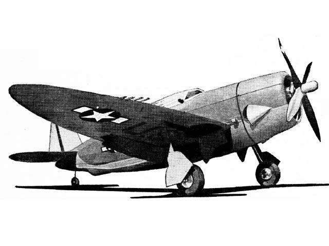 Republic P-47 Thunderbolt (oz754) by Larry Eisinger from Berkeley 1942