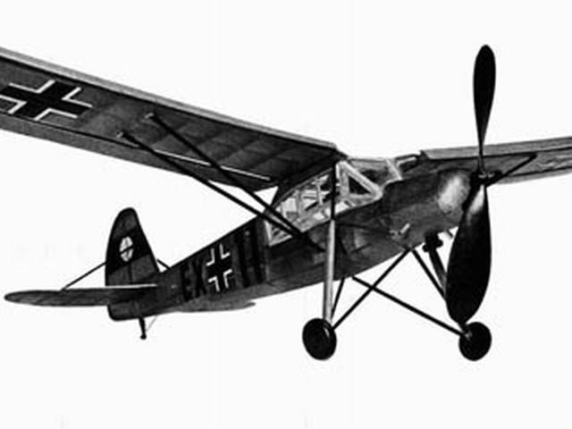Fieseler Storch - completed model photo