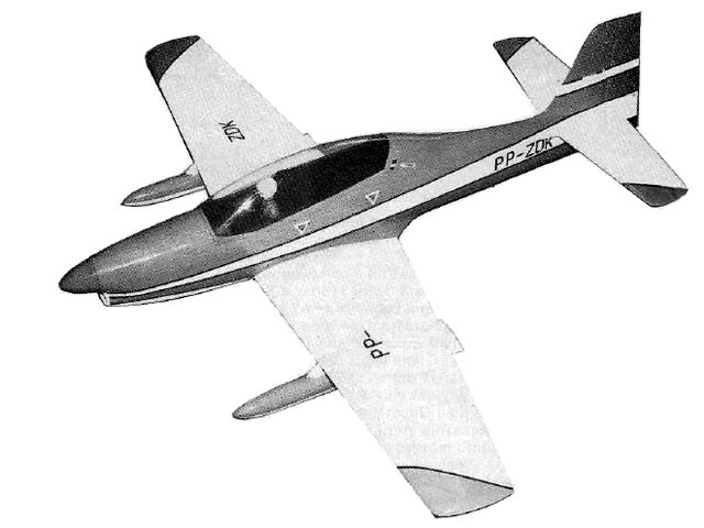 Short Embraer Tucano (oz7570) by David Boddington from Radio Control Scale Aircraft 1985