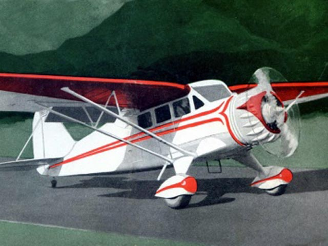 Stinson Reliant (oz7590) by Virgilio Sturiale from Model Aircraft Engineer 1934