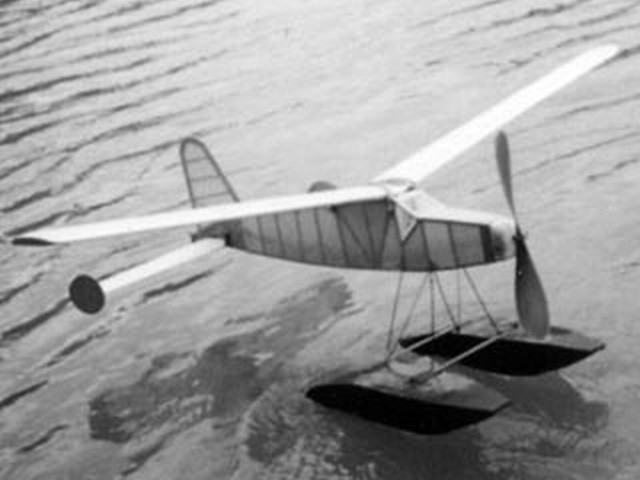 Hobbies Floatplane (oz7602) by Ron Warring from Hobbies magazine