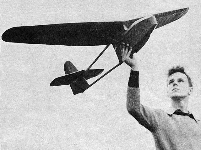 Sparrow Glider (oz7620) by Bruce Lester from Model Airplane News 1947