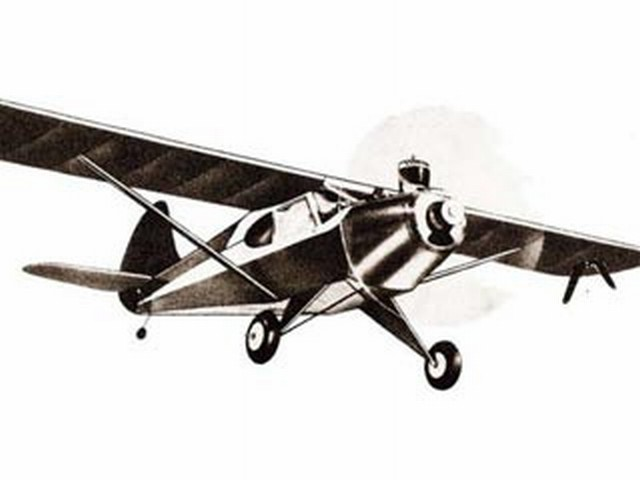 Aeronca Sedan (oz7622) from Monogram 1948