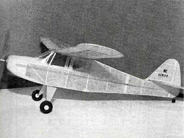 Bostonian T-Craft (oz7658) by Larry Kruse from Flying Models 1982