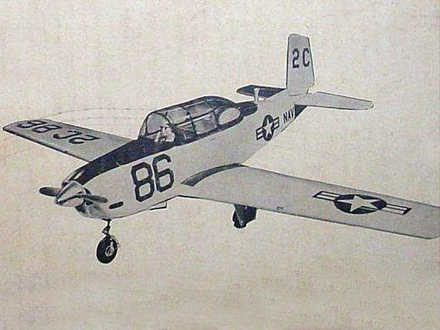 Beechcraft T-34 Mentor (oz7726) by Bud Atkinson from American Aircraft Modeler 1968