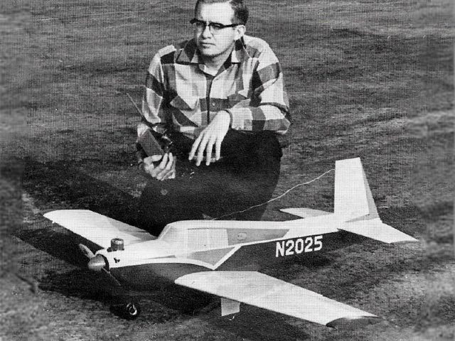 Mooney 21 (oz7729) by Jerry Nelson from American Aircraft Modeler 1968