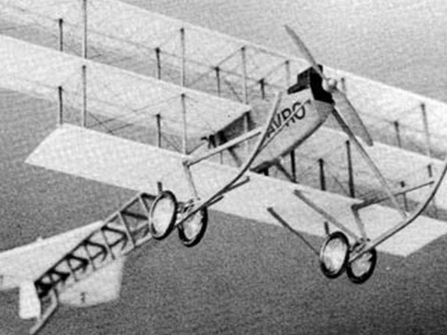 Avro Triplane - completed model photo
