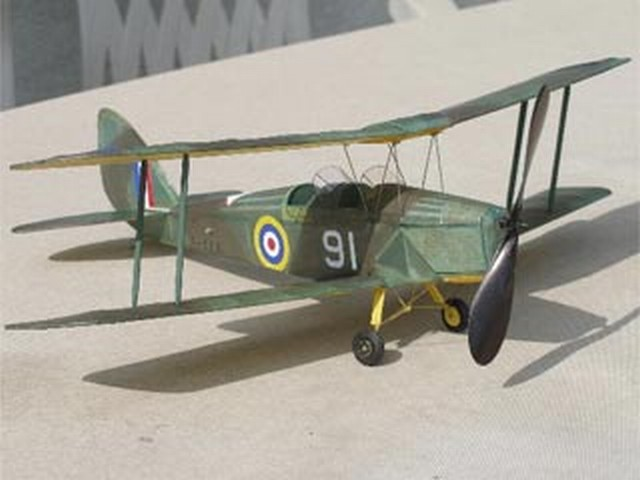 Tiger Moth - completed model photo