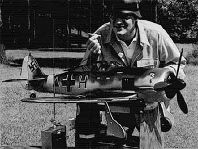 Focke-Wulf 190 (oz7839) by Walt Mitchell from RCMplans 1969