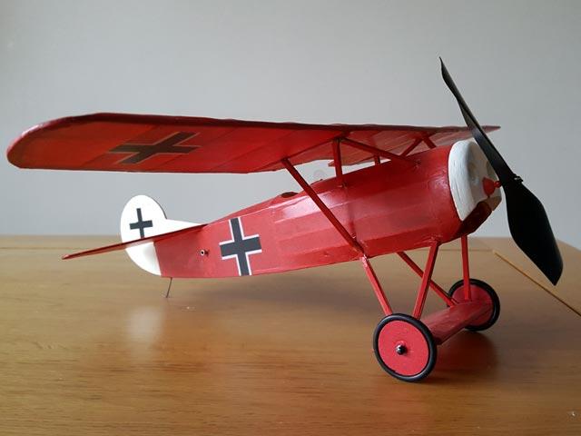Fokker D8 - completed model photo