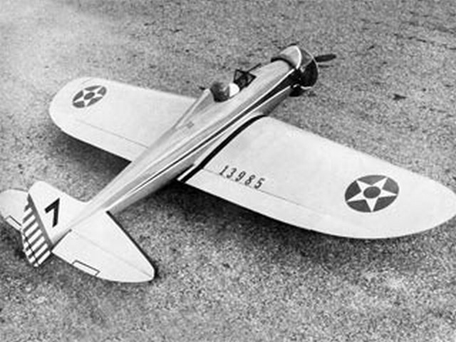 P-26 Peashooter (oz7925) by Jack Sheeks from Flying Models 1974