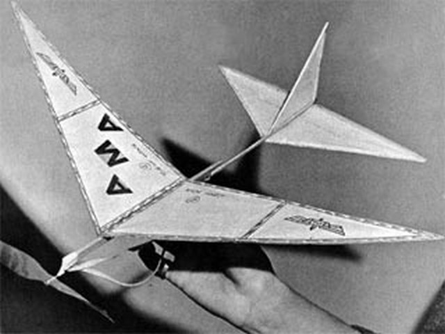 Delta Dart - completed model photo