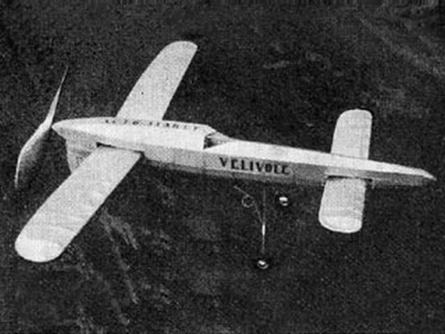 Velivole Canard (oz802) by A Watteyne from Aeromodeller 1946