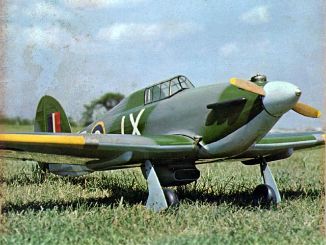 Hawker Hurricane (oz8097) by Ken Dwight from RCMplans 1965