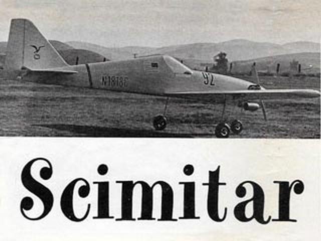 Scimitar (oz8127) by Joe Foster from American Aircraft Modeler 1969