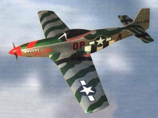 Electric P-51 Mustang (oz8150) by Gus Morfis from RCMplans 2000
