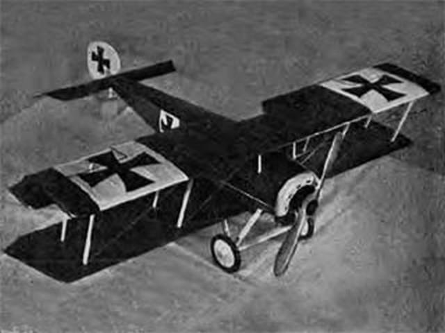 Fokker DIII (oz8156) by Frank W Beatty from Aeromodeller 1956