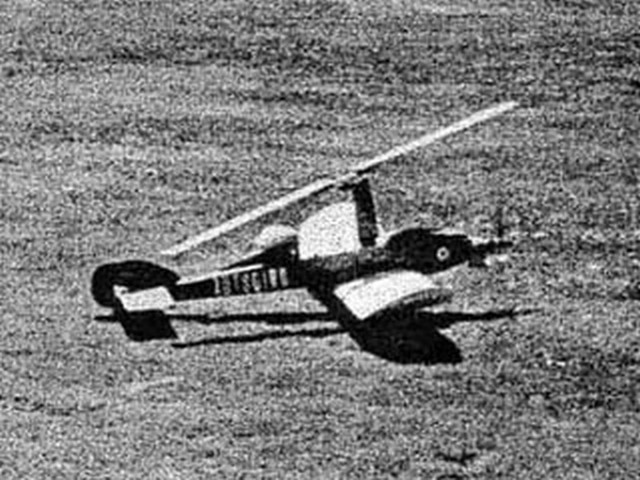 Autogiro (oz8164) by Hal DeBolt from Model Airplane News 1977