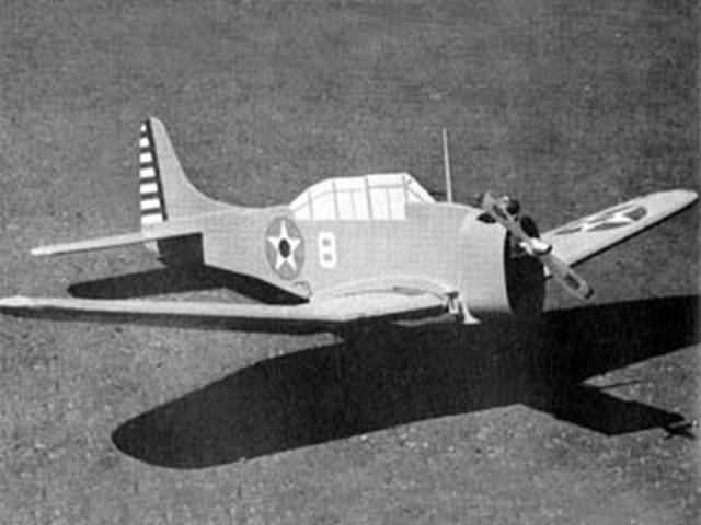 SBD Dauntless (oz8172) by Paul Schaaf from American Aircraft Modeler 1971
