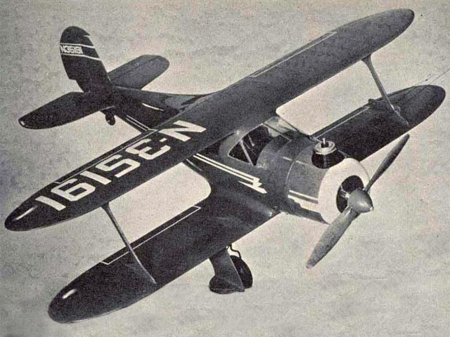 Beechcraft G17S Staggerwing (oz8184) by Walt Musciano from American Modeler 1958