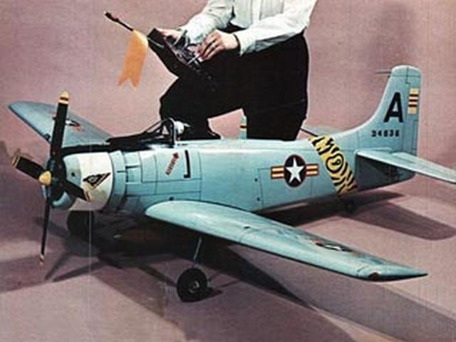 Skyraider AD-6 (oz8194) by Franz Meier from Flying Models 1968