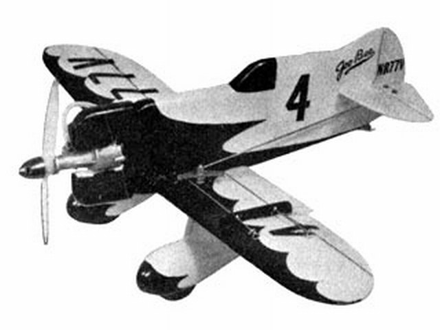 Gee Bee Z Sportster (oz8199) by Keith Laumer from Aeromodeller 1962