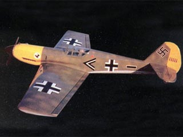 Messerchmitt BF-109E - completed model photo