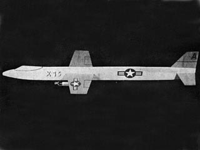X-15 - completed model photo