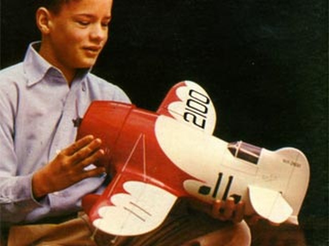 Gee Bee R-1 - completed model photo