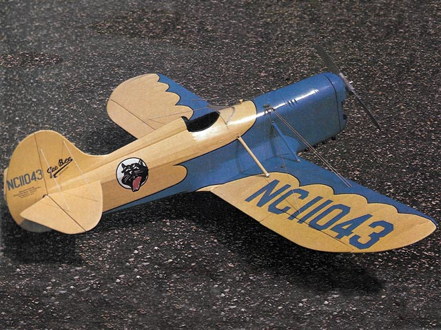 Gee Bee Model D Sportster (oz8284) by Henry Haffke from Flying Models 1978