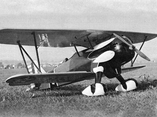 Curtiss P-6E (oz8300) by Ken Marsh from Model Airplane News 1972