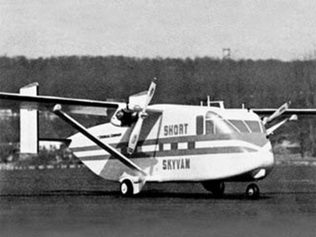 Short Skyvan  (oz8374) by Paul Schaaf from American Aircraft Modeler 1970