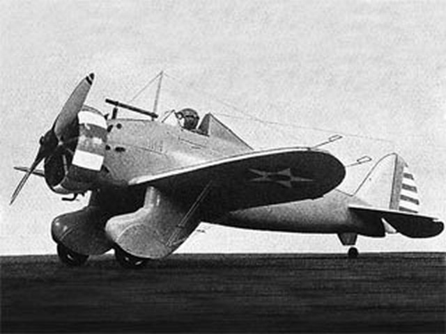Boeing P-26A (oz8408) by PMH Lewis from Model Aircraft 1952