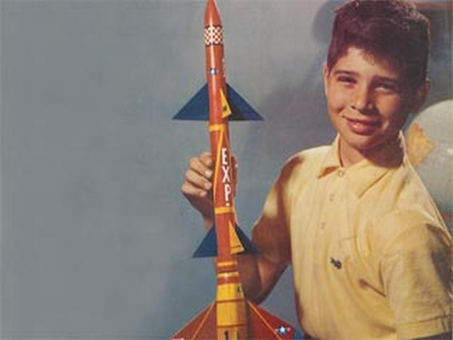 Two Stage Rocket (oz8477) by Paul Del Gatto from Model Airplane News 1958