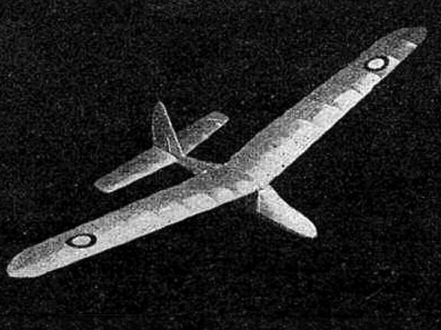 Beau Glider 2 (oz8497) by AH Lee from Bristol Model Aero Supplies 1943